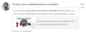 Me mencionan en una publicacion post de Linkedin-Jose-Manuel-Lodeiro-Experto-LinkedIn-Curso-Social-Selling