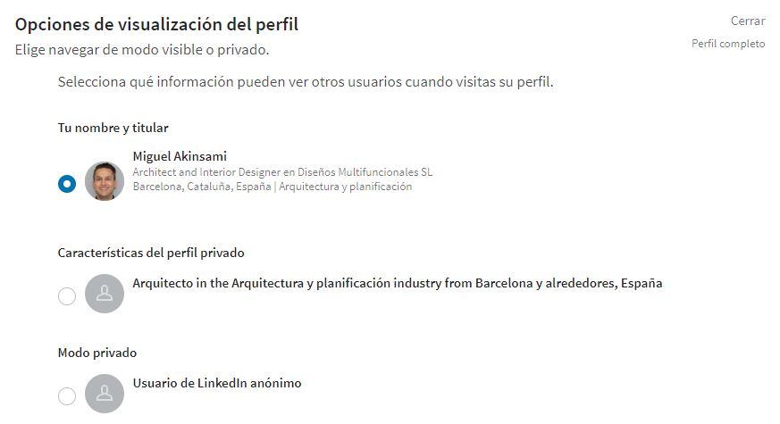 Opciones de visualización de tu perfil -LinkedinAjustes-y-Privacidad-Linked-Jose-Manuel-Lodeiro-Experto-LinkedIn-Curso-Social-Selling
