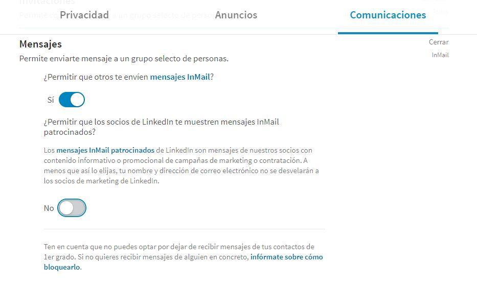 Permitir mensajes en Linkedin Configuracion-LinkedinAjustes-y-Privacidad-Linked-Jose-Manuel-Lodeiro-Experto-Linkedin-Social-Selling